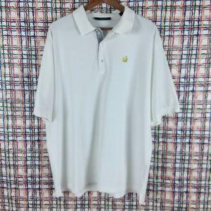Bobby Jones Masters Polo Cotton White Golf Shirt